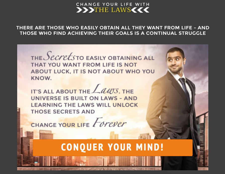 Change Your Life with the Laws (landing page)